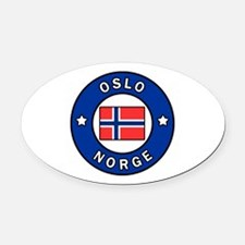 Unique Norwegian country Oval Car Magnet