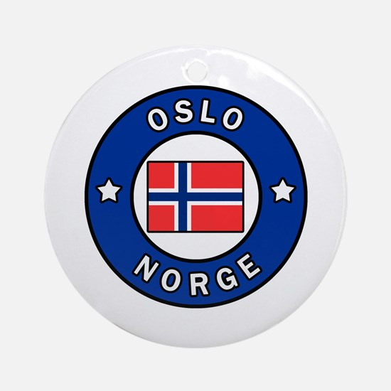 Cute Norwegian Round Ornament