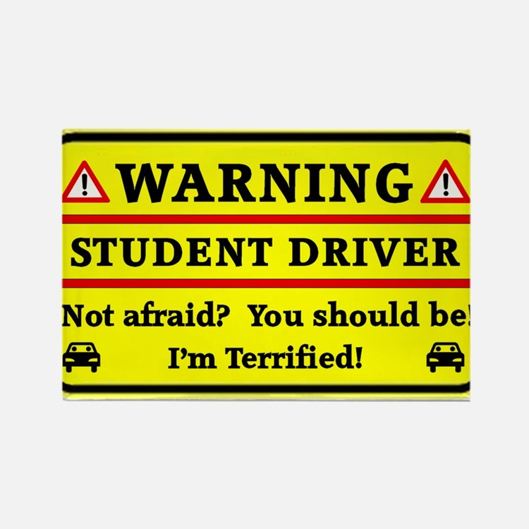 Warning Student Driver Magnets