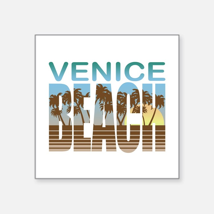 "Cute Venice ca Square Sticker 3"" x 3"""