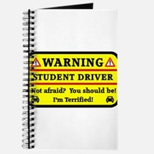 Warning Student Driver Journal