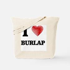 Cute Burlap Tote Bag