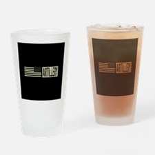 U.S. Military: Artillery (Black Fla Drinking Glass