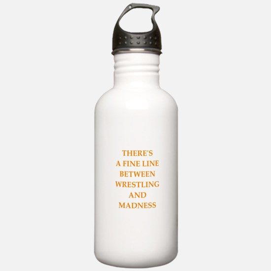 funny sports and gaming joke Water Bottle
