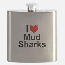 Mud Sharks Flask