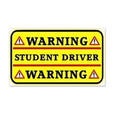 Warning Student Driver Wall Decal