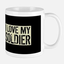 U.S. Army: I Love My Soldier (Black Fla Mug