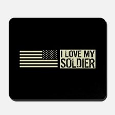 U.S. Army: I Love My Soldier (Black Flag Mousepad