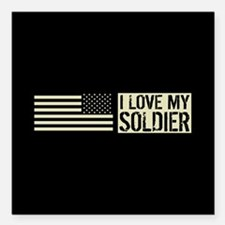 "U.S. Army: I Love My Sol Square Car Magnet 3"" x 3"""