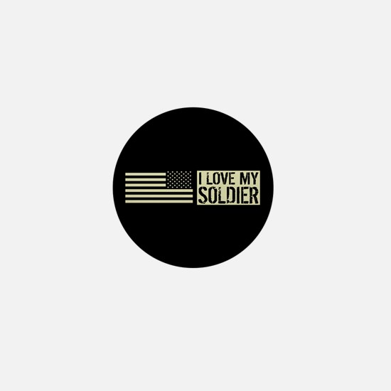 U.S. Army: I Love My Soldier (Black Fl Mini Button