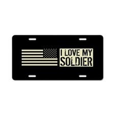 U.S. Army: I Love My Soldie Aluminum License Plate