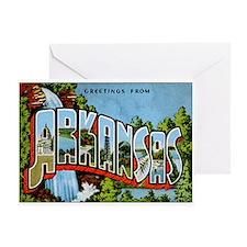 Arkansas Postcard Greeting Card