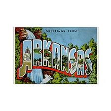 Arkansas Postcard Rectangle Magnet