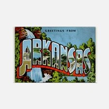Arkansas Postcard Rectangle Magnet