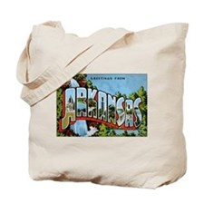 Arkansas Postcard Tote Bag