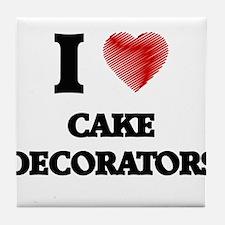 Cake Decorator Tile Coaster