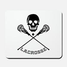 Skull and Lacrosse Sticks Mousepad
