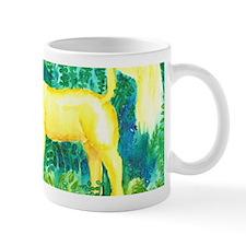 Unicorn Gold in Forest Green Mug