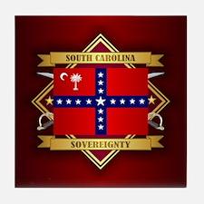 SC Sovereignty Flag Tile Coaster
