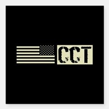 "U.S. Air Force: Combat C Square Car Magnet 3"" x 3"""