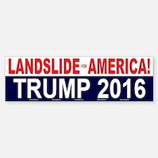 Trump Landslide For America Bumper Bumper Bumper Sticker