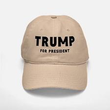 Trump For Presidet Baseball Hat Blk Font Khaki Baseball Baseball Cap