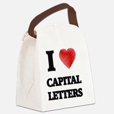 capital letter Canvas Lunch Bag
