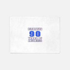 Celebrating 90 Years Of Awesomeness 5'x7'Area Rug
