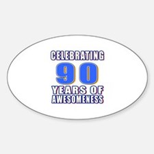 Celebrating 90 Years Of Awesomeness Decal