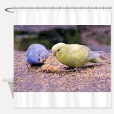Budgie Shower Curtain