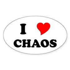 I Heart Chaos Oval Decal