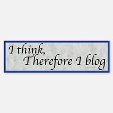 Blogging Bumper Bumper Bumper Sticker