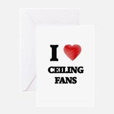 Ceiling Fan Greeting Cards
