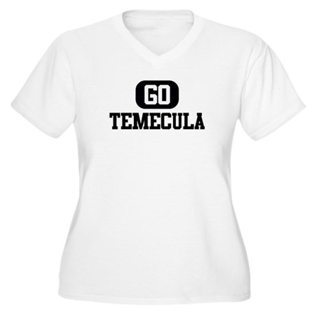 GO TEMECULA Women's Plus Size V-Neck T-Shirt
