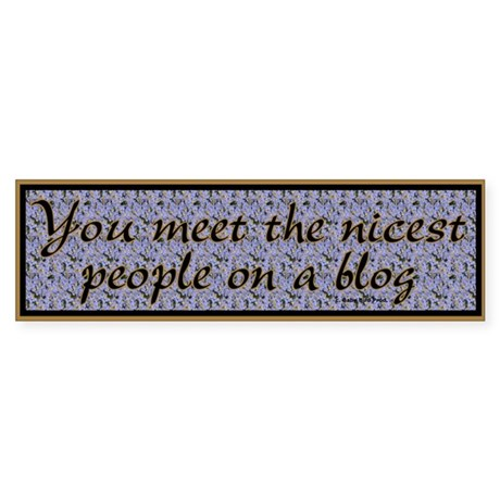 Blogger Gift Bumper Sticker