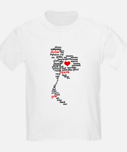 My Heart / Love is in Thailand Map T-Shirt
