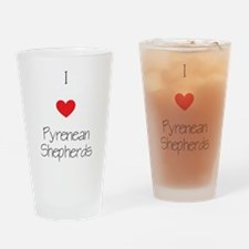 I love Pyrenean Shepherds Drinking Glass