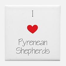 I love Pyrenean Shepherds Tile Coaster