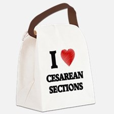 cesarean section Canvas Lunch Bag
