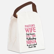 Pastor's Wife for light Canvas Lunch Bag