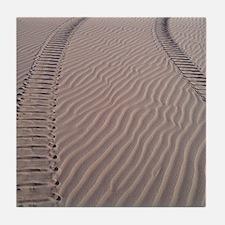 Dune Buggy Tracks Tile Coaster
