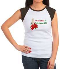 Friendship Christmas Women's Cap Sleeve T-Shirt