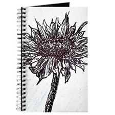 Cute Black and white sunflowers Journal