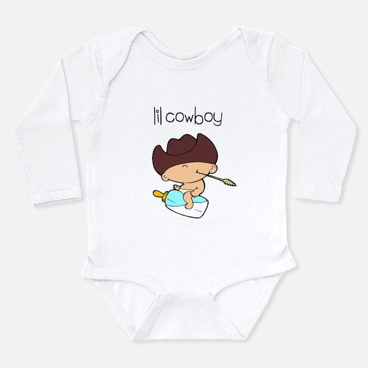 Cute Funny cowboy Long Sleeve Infant Bodysuit