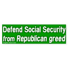 Defend Social Security Bumper Bumper Sticker