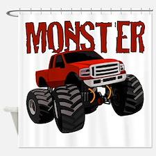 Cute Monster truck Shower Curtain