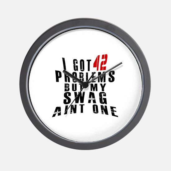 42 Swag Birthday Designs Wall Clock