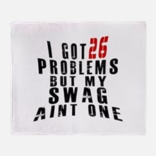 26 Swag Birthday Designs Throw Blanket