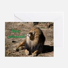 Resting lion Greeting Cards