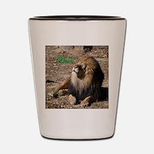 Resting lion Shot Glass